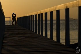 Ilha de Paquetá, Rio de Janeiro, Brazil Couple Portrait Session before the Wedding — They were made for each other! What a beautiful sunset in this engagement day!