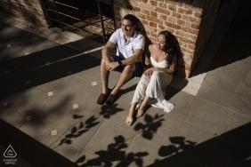 rio de janeiro, brazil - sunlight illuminates the engagement of this dear couple
