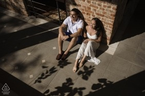 rio de janeiro, brazil - sunlight illuminates the engagement of this dear couple