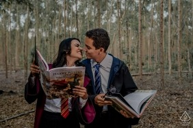 Harry Potter e-Session Themed Portraits - Engagement Photography in the Woods