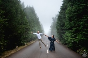 Madeira Island, Portugal engagement photography | The future groom feeling happy enought to levitate