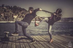 Engagement Portraits on the docks of Le grazie - La Spezia