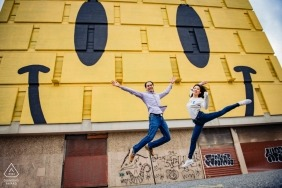 Photographie d'engagement de Baltimore Maryland | Ce couple est tellement heureux!