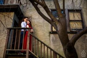 UC Berkeley Engagement Session - It's cold outside - Couple Portraits