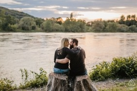 Hagen pre wedding photography - Bonn couple down by the river