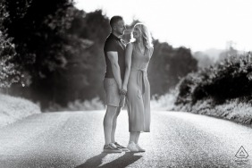 Engagement Photography Session - Image contains: Black and White, Chicksands Wood, Bedfordshire