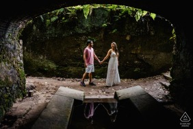Parque Lage - RJ - Rio de Janeiro	Pre-Wedding Portraits - Good symmetry, beautiful reflection and connection.