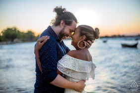 Buzios - RJ - Brasil	Engagement portrait at sunset with my love and the beach