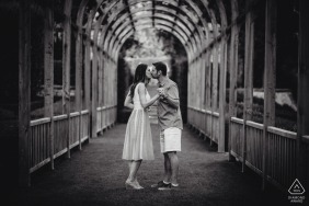 Vignamaggio, Florence, Tuscany prewedding photography | Engagement image in black and white