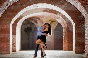 San Francisco, CA Couple in Fort Point.. Engagement Photo Session