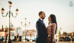 Venice Pre-wedding formal portrait session in Italy