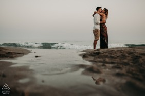 Santa Maria di Leuca, Puglia engagement portrait session at the extreme tip of puglia