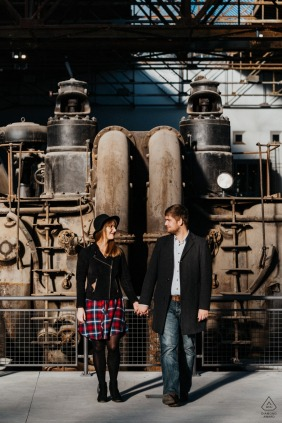Industrial Pre-Wedding Shoot in Hattingen, Germany