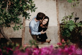 Calella de Palafrugels, Costa-Brava, Spain Engagement session in the park