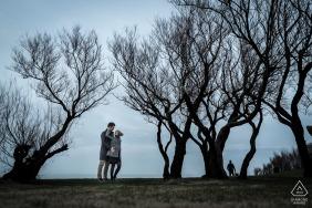 Biarritz, Frankreich Porträts vor der Hochzeit mit dem Ehepaar