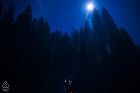 Evening engagement photo session of a couple at Yosemite.