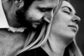 Rotterdam intimate black and white couple image