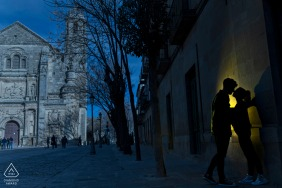 Úbeda, Jaén Pre-Wedding Picture with a silhouette.