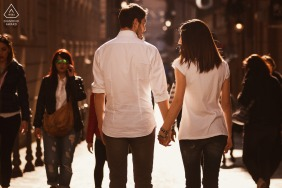 Piazza di Spagna - Rome - Italy engagement picture - A walk in the center of Rome in the Spanish Steps