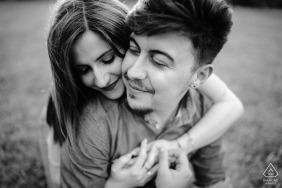 Telese Lake, Campania couple portrait - Pre wedding picture in black and white