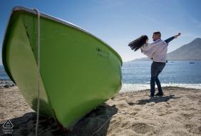 Cabo de Gata Almeria Pre Wedding Pictures from a Sunny day in Almeria in the sand with a boat