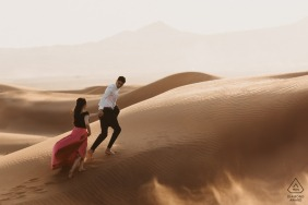 Picture from Maleiha Desert, Dubai - Engaged Couple Exploring the desert