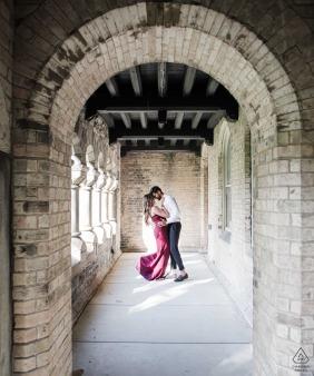 Engagement Sessions | University of Toronto Arch Couple Portrait