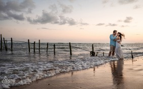 Engagement Picture Session at Maceió, Alagoas - a beautiful sunset