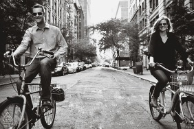 Engagement Photo Sessions | Manhattan, New York City - Let's go ride a bike!