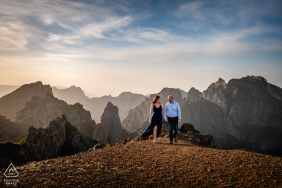 Couple Engagement Photo Session | Pico do Areeiro, Madeira Island, Portugal - A couple holding hands in one of Portugal's most beautiful sceneries.
