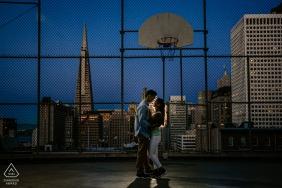 Verlobungsfotos | San Francisco, China Town Basketball Tagebuch