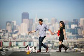 Verlobungsbild-Sitzung in Potrero Hill, San Francisco - Walking the Third Member
