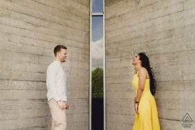 Séance photo de fiançailles à Southbank London - séance de fiançailles créative à Londres