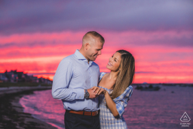 Engagement Photography | Brant Point Lighthouse, Nantucket Island, MA - Sunset engagement session.