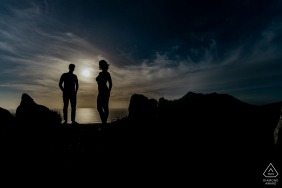 Engagement Photographer | Cape Town vignette of couple at sunset