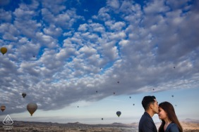 Engagement Sessions | cappadocia turkey pre wedding photo shoot with hot air balloon