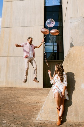 Engagement Photographer | CCBB - Brasília - Brazil - Looks like the man is flying. There is no photoshop composite. The man just jumped.