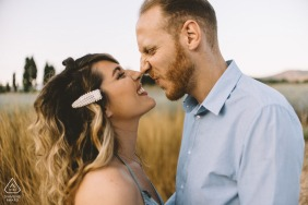 Couple Engagement Photo Session | Greece eskimo kiss