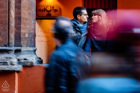 Engagement Sessions   Bologna, Italy - Relaxing moment in the center of the city