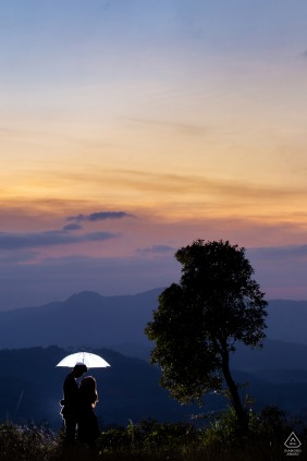 Engaged Couples Photographer | Da Lat, Vietnam - Umbrella Gradient love