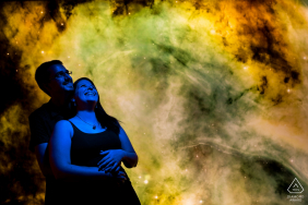 Engagement Photo Session at Brno - Smoke Bombs and Merry blues