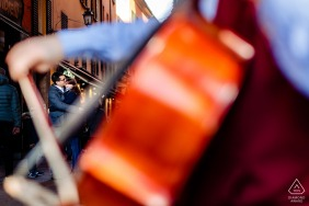 Couple Engagement Photo Session   Bologna, Italy - Love and music