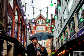 Engagement Photo Sessions | London, UK - The beautiful lights of Carnaby St.