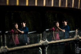 Engaged Couple Session | A London, United Kingdom double reflection