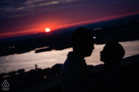 upper west side, nyc sunset engagement photography session