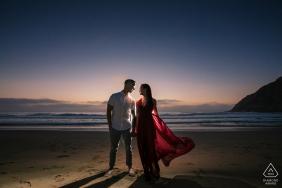Half Moon Bay, Kalifornien Red Hour Verlobungsshooting