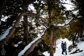 Winter Forest Engagement  in Dillon, Colorado