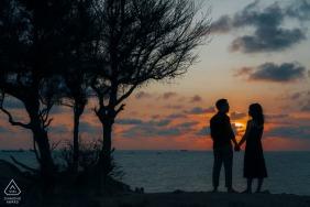 Vung Tau, Vietnam prewed photo shoot at sunset