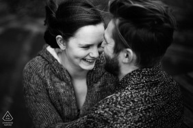 Engagement session of a couple at the Holiday Inn Corby