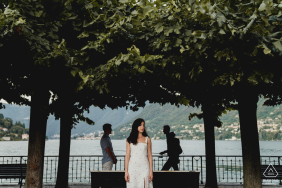 Engagement shoot at Como Lake